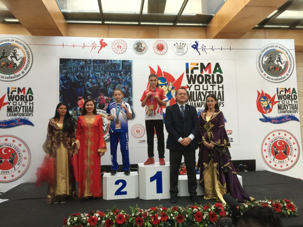 Gkitsa Eftychia 2nd Place world muay thai championship Antalya, Turkey